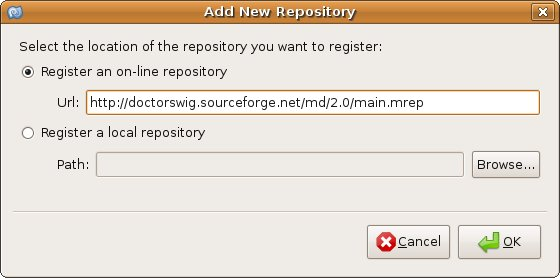 Add New Respository dialog of MonoDevelop